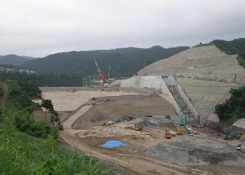 鳥取県殿ダム建設工事